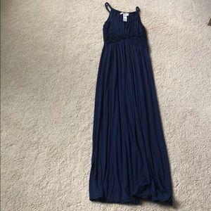 Navy blue long dress size M, Max Studio